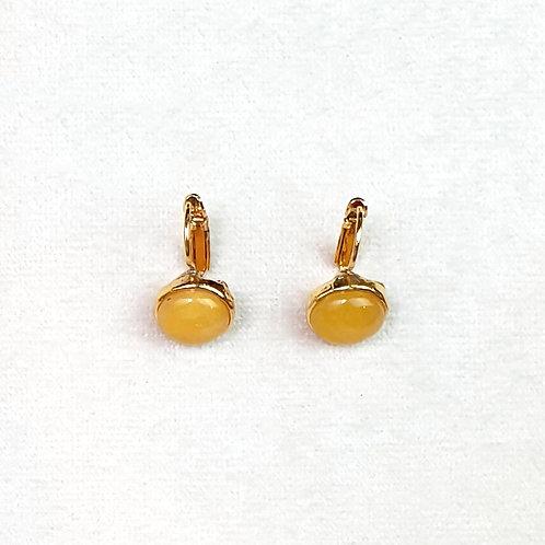 Boucles d'oreilles STON 1 D/Ambre