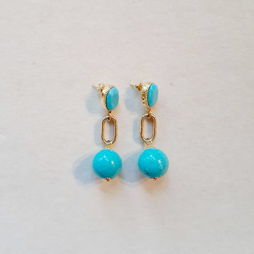 Boucles d'oreilles FAB 7 D/Turquoise