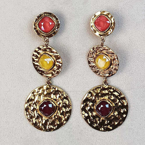 Boucles d'oreilles FAST 44 D/Royal Red/Multi