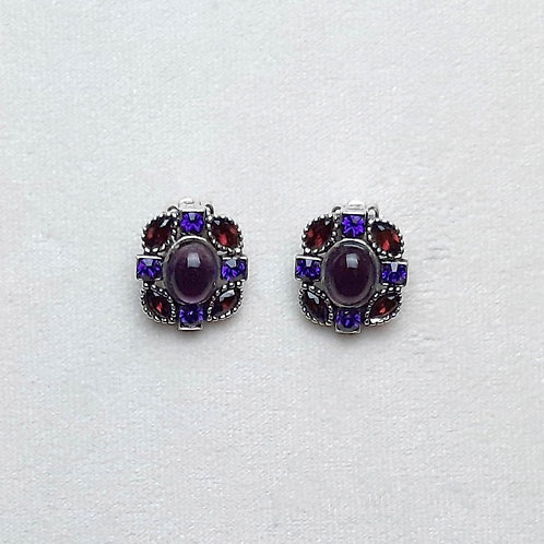 Boucles d'oreilles BIZ 2 A/Amethyst