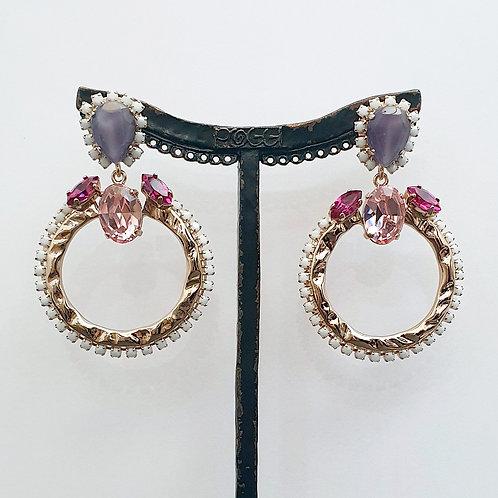 Boucles d'oreilles ART 907SR R/Rose