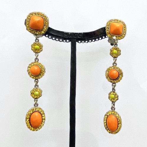 Boucles d'oreilles JOY 44 B/Orange