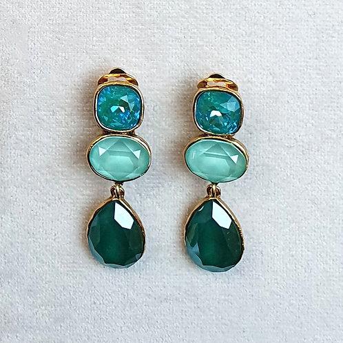 Boucles d'oreilles STON 8 D/Royal Green/Mint