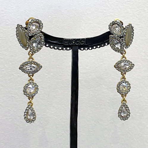 Boucles d'oreilles MIX SR D/Cristal/Taupe