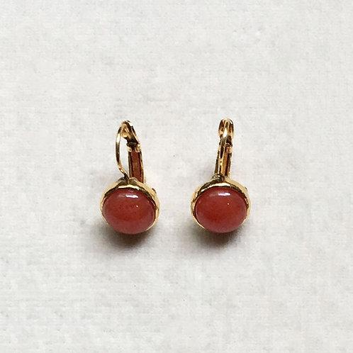 Boucles d'oreilles STON 1 D/Rouge