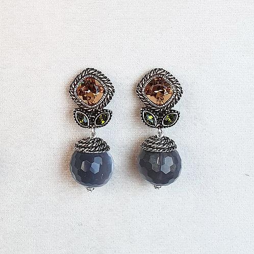 Boucles d'oreilles ELO 18 A/Gris
