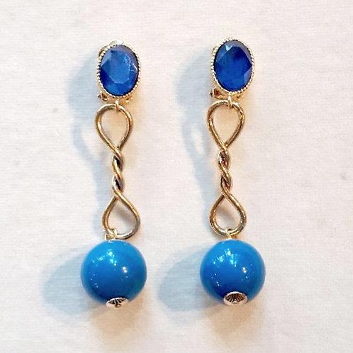 Boucles d'oreilles FAB 5 D/Bleu