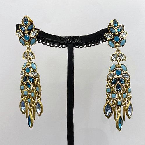 Boucles d'oreilles PAM 3 D/Turquoise