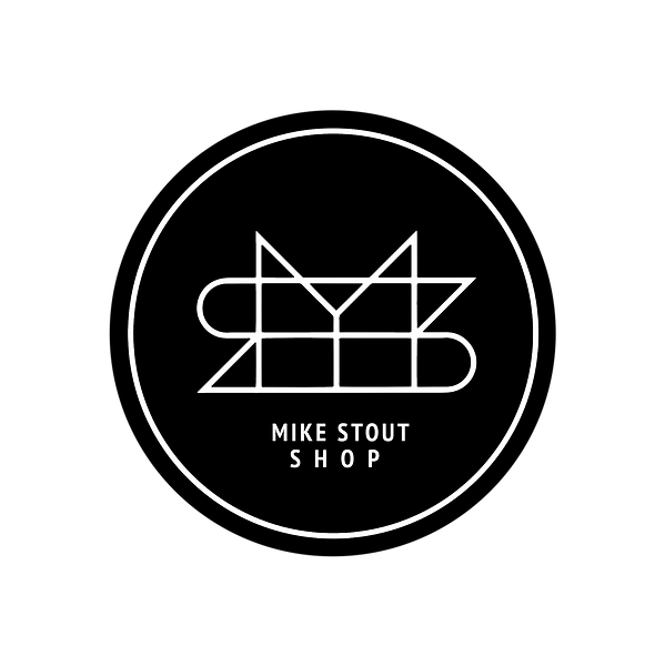 MIKE STOUT SHOP LOGO TRANSPARENT BLACK C