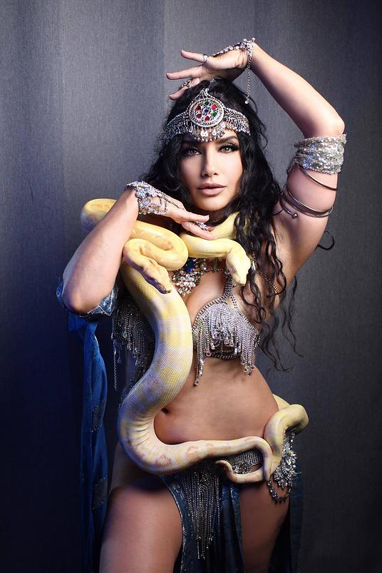 Snakes Sophia Nova and Joanne touched Fu