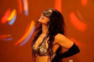 Belly dance classes online Vivace masks