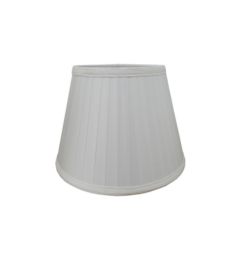 White a line pleated lampshades in 9 and 11 purplelantern white coloured pencil pleat lamp shade available in sizes 9 and 11 these sizes represent the width of the shade at its widest point aloadofball Images