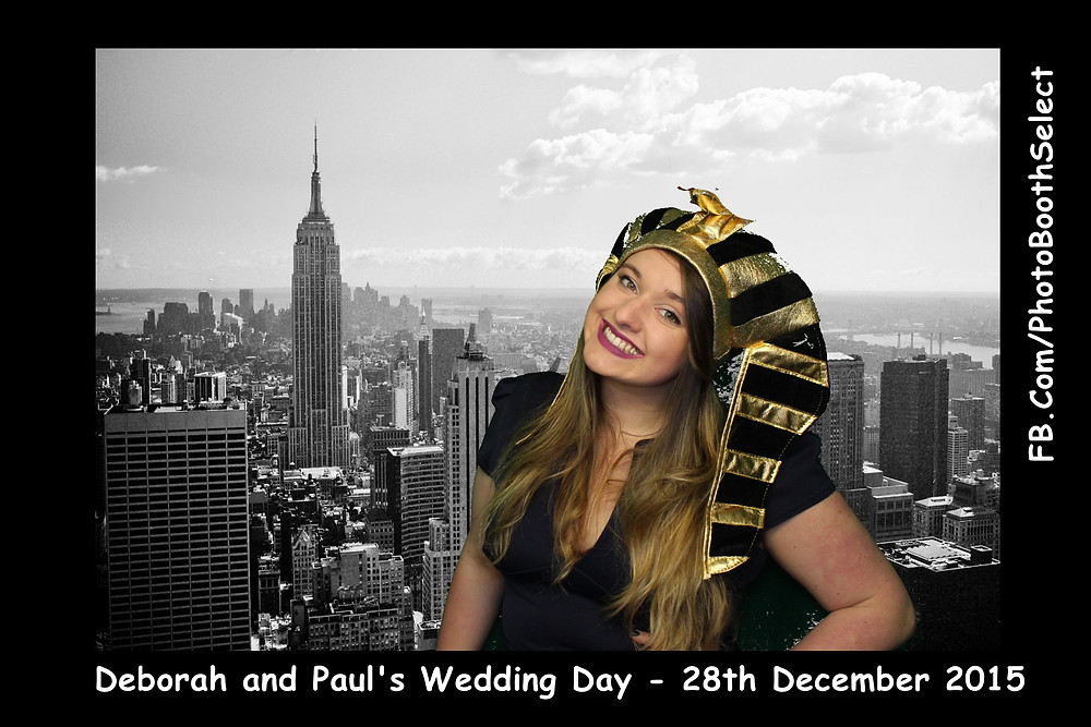 From our Photo booth with green screen included, at wedding, using the New York background