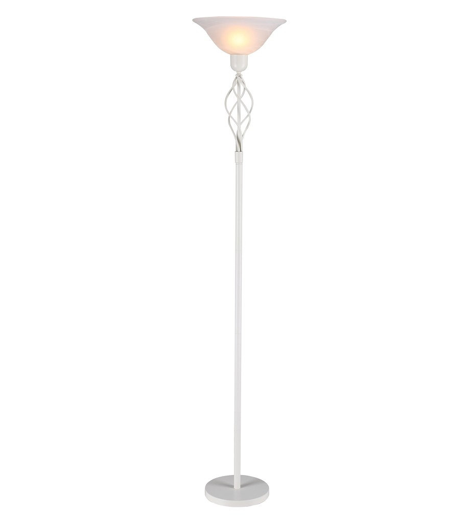 Purplelantern lighting in devon sailsbury winchester floor lamp floor lamp with its timeless design and white glass uplighter is a gorgeous addition to any room and it is fully compatible with led and low energy aloadofball Gallery