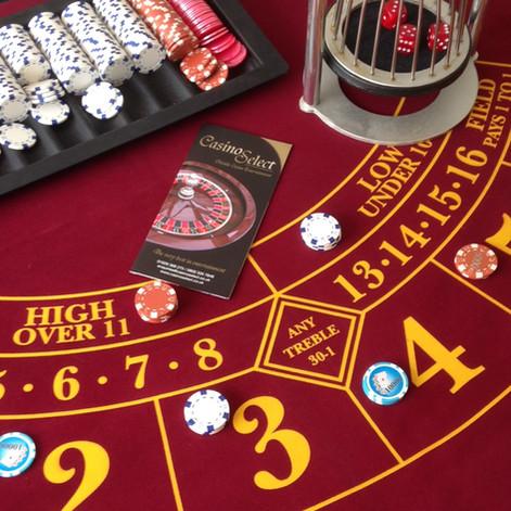 The Chuck-a-Luck table