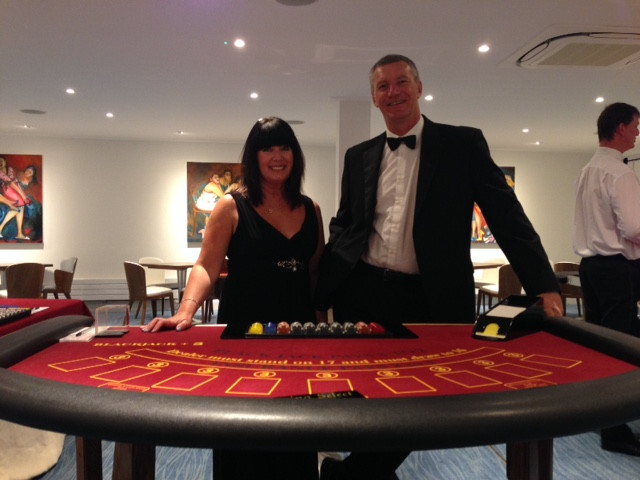 Paul and Mandy at the Blackjack table