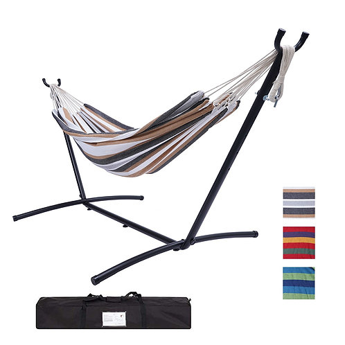 Large 2 Person Brazilian Hammock Indoor/Outdoor with Frame