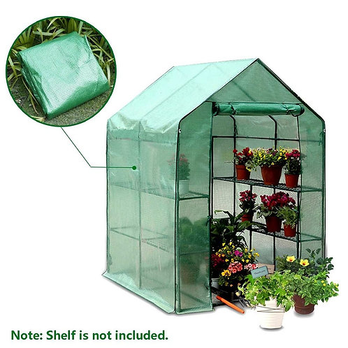 4.7ft x 2.4ft x 6.3ft Two Floors Green Greenhouse