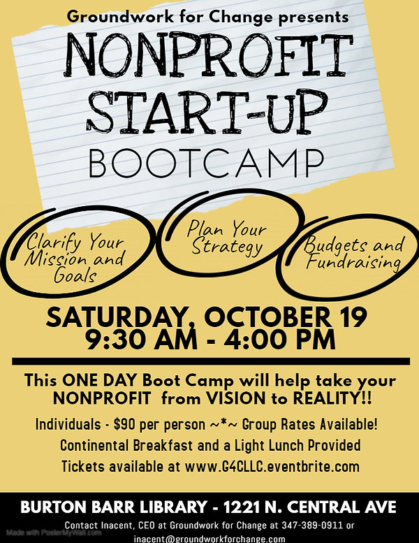 Nonprofit BootCamp Flier - Made with Pos