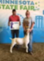 Champ Carcass goat Mn State FFA  Elizabe