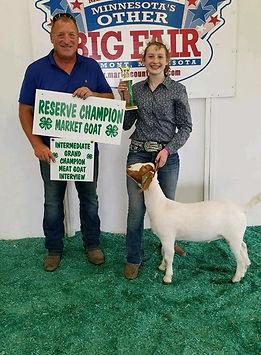 res champ mkt goat  Martin Co 4-H  Sarah