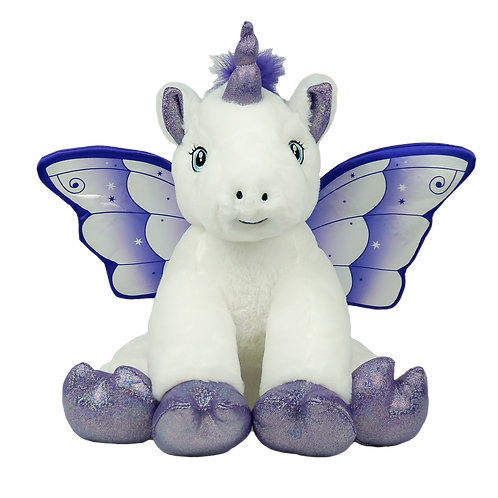 Purple & White Glitter Unicorn