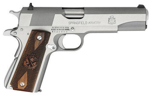 "Springfield 1911 5"" .45 stainless Mil-spec"