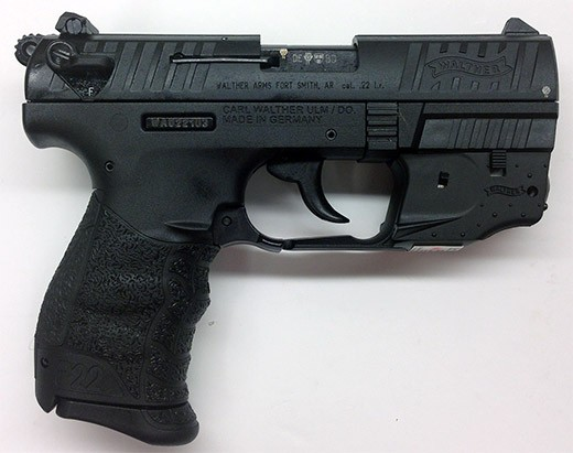 Walther P22 w/laser
