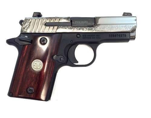 Sig Sauer P938 engraved 9mm