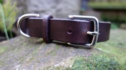Plain Chocolate dog collar