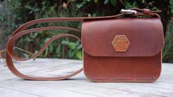 Chestnut & brandy small magnetic bag
