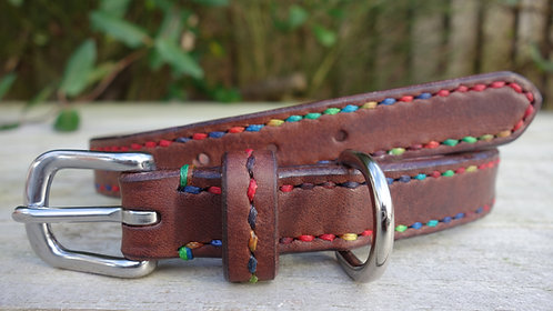 Handstitched Dog Collar - Custom Sized