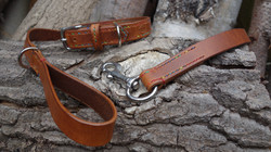 Fully stitched dog collar & lead set