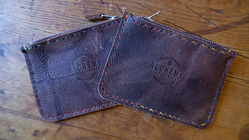 Ready to Post - Rustic zip purse