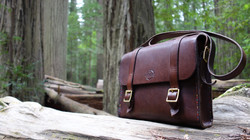 My well used satchel, in a redwood forest, California 2018
