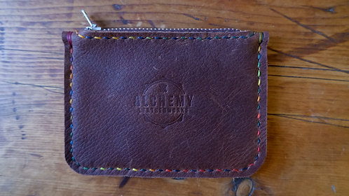 Ready to Post - Rustic zip purse with rear card slot