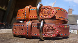 Fully stitched dog collars