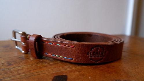 Ready to Post - 1 inch wide -Dark Chestnut Belt