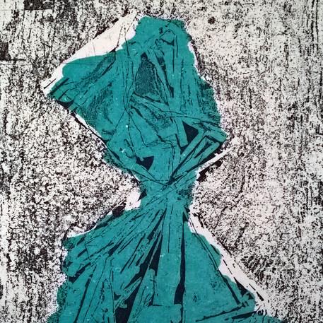 Sweet Paper Portrait: Blue.