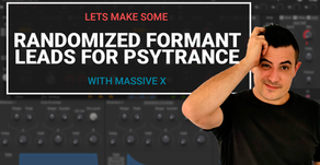 Lets make some randomized formant leads for psytrance in Massive X
