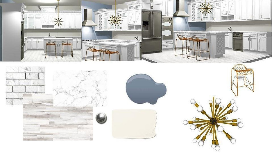 mood board white kitchen design