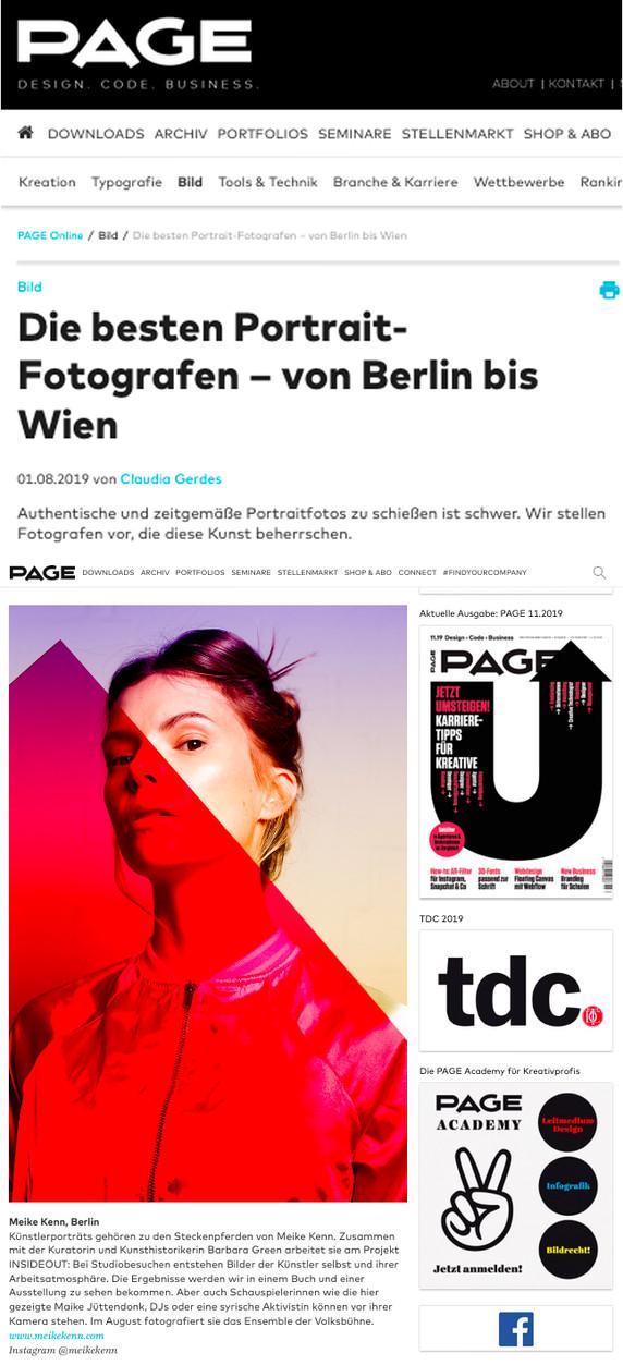 die Page zählt mich zu den besten Portrait-Fotografen von Berlin bis Wien. Dankeschön!