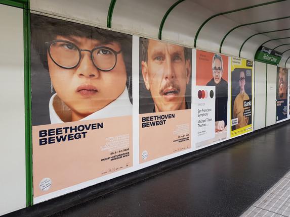 """Kampagne """"Beethoven bewegt"""" Kunsthistorisches Museum Wien, Agentur Polyform"""