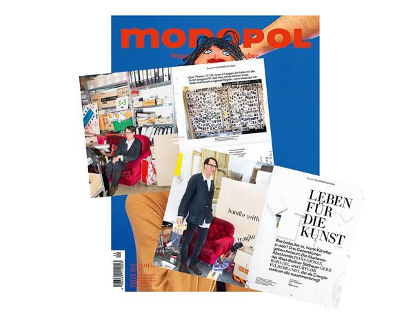 Monopol Magazin//mit Gregor Hildebrandt im Gespräch