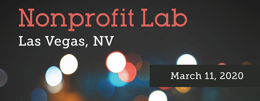 2020 Noprofit Conference Las Vegas