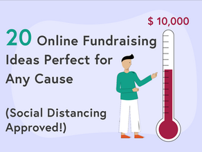 20 Online Fundraising Ideas Perfect for Any Cause (Social Distancing Approved!)