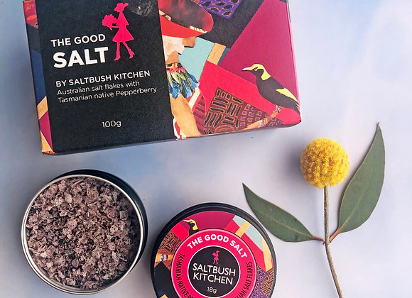 The Good Salt with Tasmanian Pepperberry - 100g
