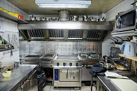 Typical kitchen of a restaurant shot in