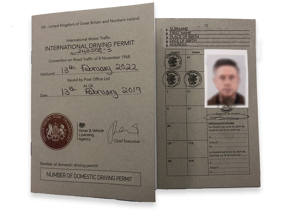 Here's what an IDP looks like (International Driving Permit)