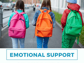 Emotional support for this school year